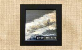 Caught the wave (10x10cm)_jute