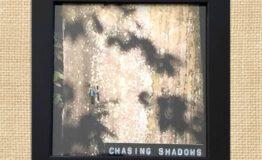 Chasing shadows ( 10x10cm) jute